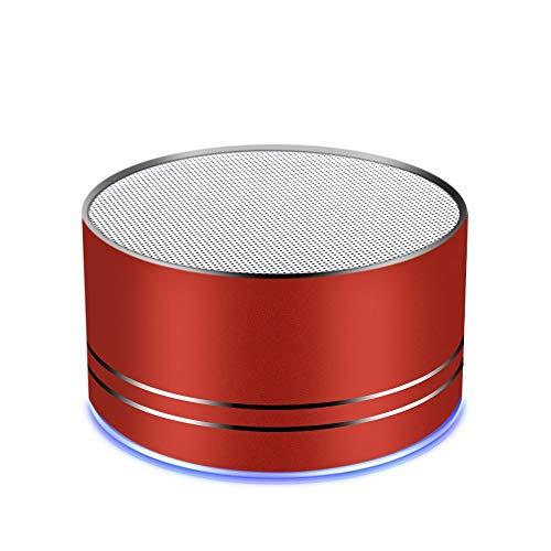 Bluetooth-Lautsprecher, tragbarer kabelloser Mini-Reiselautsprecher mit überragendem Klang, 5-stündiger Wiedergabezeit, eingebautem Mikrofon, geringer Klirrfaktor, patentierter Bassanschluss, Freispre