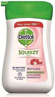 Dettol Squeezy Liquid Hand Wash - Skincare, 110ml Bottle
