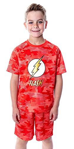 DC Comics Boys' Justice League The Flash Digital Camo 2 Piece Shirt...