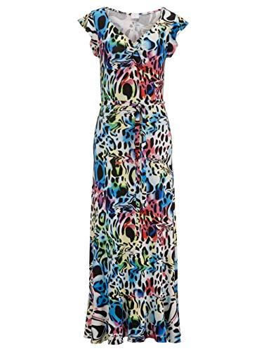 Alba Moda Strandkleid mit Volants Multicolor