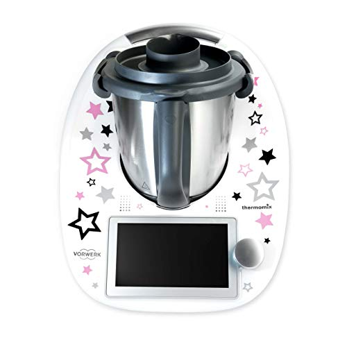 coolina® Sticker Aufkleber Sternentanz Rosa passend für Thermomix TM6/ TM5/ TM31/ Cook-Key