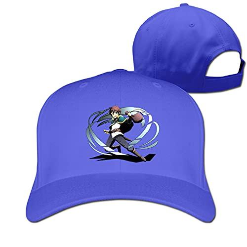 Kazuma Konosuba Baseball Cap Sandwich Cap Curved Brim Sun Hat Blue