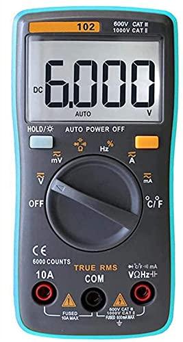 Sanzang HLD Digital MULTIMETE MULTIMETE Digital Multímetro Preciso Resistencia Multifunción Capacitación Diodo Tester Tester Multi-Funcional Portátil Multímete