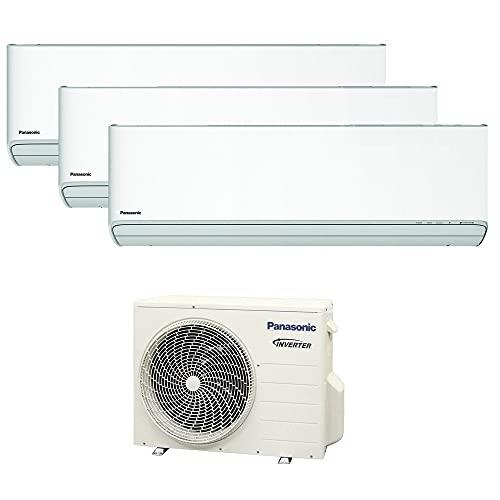 Climatizzatore trial split ETHEREA R32 Panasonic serie XKE - 12000+12000+12000 btu A++ WIFI NanoeX