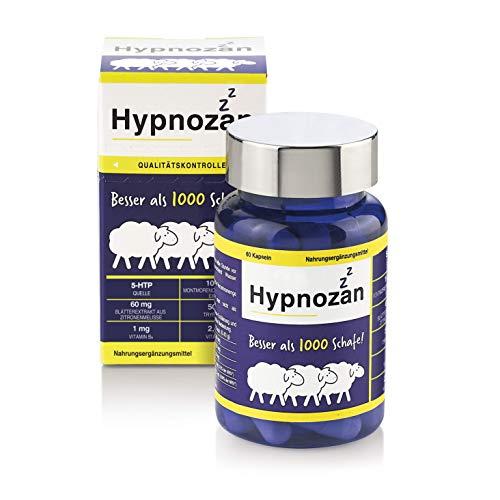 Hypnozan - Kapseln zum Schlafen ohne Melatonin. Besser als Schlaftabletten