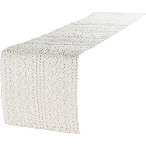 Tischläufer Mirthe Häkel beige 30x140cm