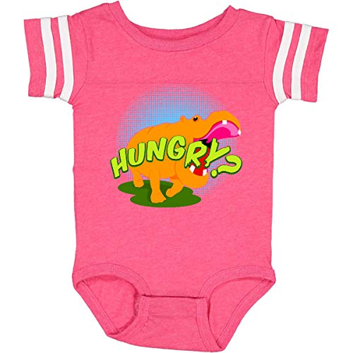 inktastic Hungry Hippo Infant Creeper 18 Months Football Pink and White 11245