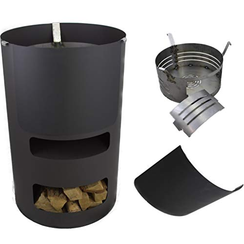 A. Weyck Tools Multifunktionstonne | Feuertonne | Feuerplatte | Dutch Oven Station | Pizza Ofen | Kamin | Plancha | Komplettsets (Multitonne-Feuertonne)