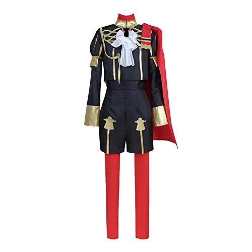 Fire Emblem Three Houses Edelgard Von Hresvelgr Cosplay Costume Women Suit Cloak Full Set for Halloween(Female-XL)