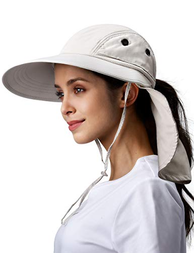 Camptrace Sun Hats for Women Wide Brim Fishing Hat Neck Flap UPF 50+ Sun Protection Hat