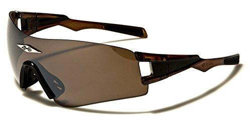 X-Loop Coole uomo occhiali da sole Designer Biker occhiali da ciclismo sport x3603 marrone Taglia unica