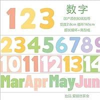 マスキングテープ かわいい 数字 特殊インク 手帳 DIY 爱丽丝茶会 シール 手帳テープ