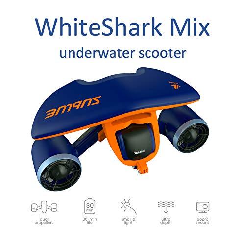 Sublue Elektrischer Unterwasserscooter WhiteShark Mix Tiefe 40 Meter Batterie 122 Wh Geschwindigkeit Betrieb 30 min Tauchen Strand Sommer Schnorcheln Urlaub Meer Freistil Erwachsener Türkis WHSHAB01*