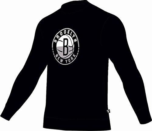 adidas NBA Brooklyn Nets Crewneck M37516 - Sudadera para hombre Nbabne S