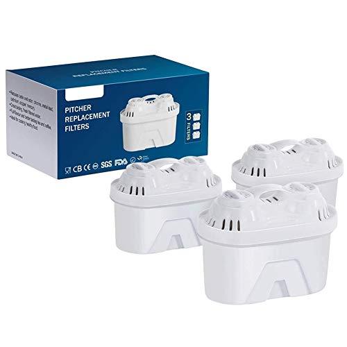 Filterpatronen für Autmor-Wasserfilter Jug, BPA FREE 5-Schicht-Wasserfilter mit Aktivkohle-Weichmacher-Ionen Hilft bei der Reduzierung von Kalk und Chlor