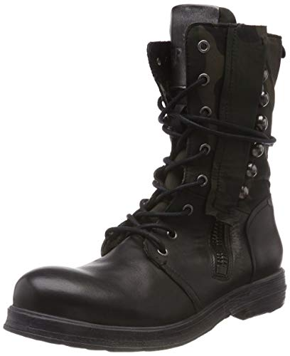 Replay Damen Brewer Biker Boots, Schwarz (Black 3), 38 EU