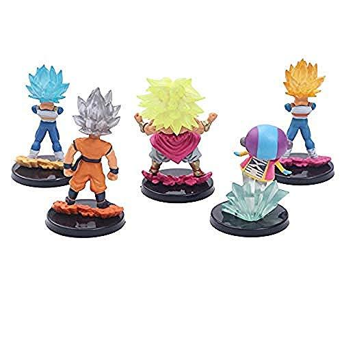 Anime handgemachte Modell Spielzeug Sammlerstücke ohne Geschmack Spaß Hand zu tun 5 ultimative Trompete Set Ornamente 5Pcs-7 Generationen von 5 kleinen 8,5 cm-7 Generationen von 5 kleinen Dragon Balls