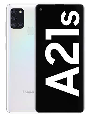 Samsung Galaxy A21s - Smartphone de 6.5' (4 GB RAM, 64 GB de Memoria Interna, WiFi, Procesador Octa Core, Cámara Principal de 48 MP, Android 10.0) Blanco