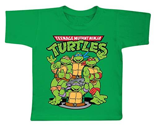Teenage Mutant Ninja Turtles Officially Licensed Merchandise TMNT Group Unisex Kids T Shirts - Green 7/8 Years