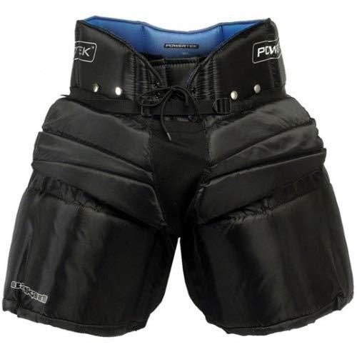 PowerTek V5.0 Barikad Ice Hockey Goalie/Goaltender Pants (Black, Junior Medium)