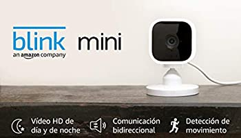 Blink Mini, cámara de seguridad inteligente, compacta, para interiores, con enchufe, resolución de vídeo HD 1080p,...