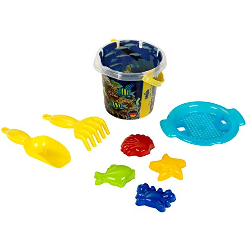 Theo Klein 2103 2103-Aqua Action Coral Reef Sandeimer, 1 Liter, im Set, Spielzeug, Made in Germany, Multicolor