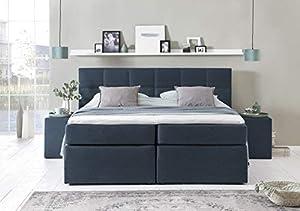 Furniture for Friends Möbelfreude® Boxspringbett Bea Midnight Blue 220x220 cm H2 inkl. Visco-Topper, 7-Zonen Taschenfederkern-Matratze