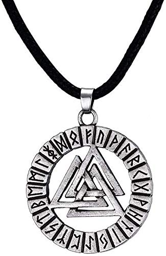 ZVBEP Necklace Men Necklace Round Ohm Wing Triangles Pendant Adjustable Yoga Spiritual Jewelry Gift Pendant Necklace for Women Men