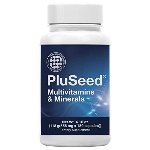 Pluseed, Men's Daily Health Multimineral Multivitamin Fertility Supplements, Perfect for Future Dads, Vitamin B6 B12 C D E CoenzymeQ10 Selenium L-Arginine L-Carnitine Folic Acid Zinc
