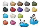 sunnypillow XXL Sitzsack mit Füllung 125 cm Durchmesser 2-in-1 Funktionen zum Sitzen und Liegen Outdoor & Indoor für Kinder & Erwachsene viele Farben und Größen zur Auswahl Blau