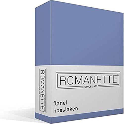 Romanette Drap-Housse en Flanelle 160 x 200 cm
