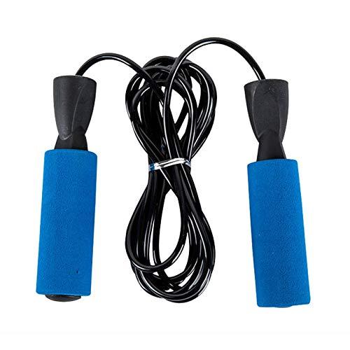 Jiangge Aérobic Exercice Boxe Saut Corde Réglable Vitesse de Roulage Fitness Hommes Femmes Anti-remontage Roulement SEC88, bleu