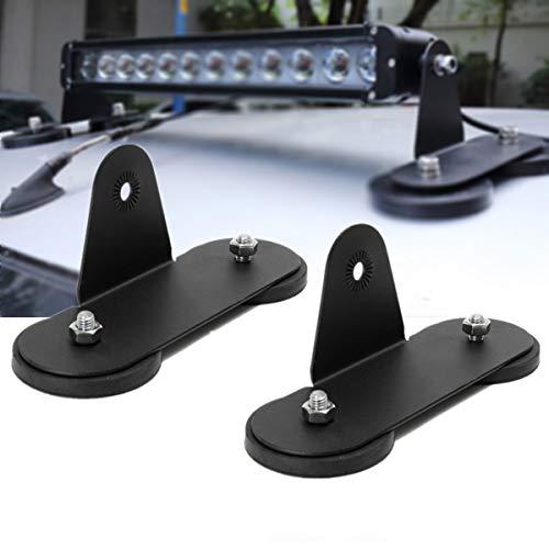 Willpower 2-teilige Magnetfuß-Montagehalterungen für LED-Lichtleiste, leistungsstarke Halterung Saugdachhalterung für Offroad-Geländewagen mit 4x4-LKW-Kurven-C