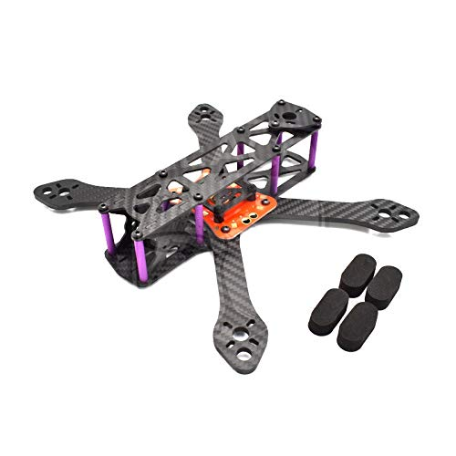 YIJIABINGRU 180 220 250 180mm 220mm 250mm 4mm Arm FPV Frame Kit + Power Distribution Board RC Quadcopter FPV Drone Drone Parts (Color : 250mm)