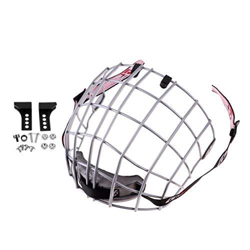 P Prettyia Robust Gitter Schutzgitter Hockey-Helm Zubehör für Herren Damen Kinder - Silber