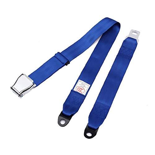 Regazo Del Cinturón De Seguridad Ajustable 2 Punto De Seguridad Ajustable Arnés Kit Universal Para Automóviles Y Vehículos 1pc Azul Decoración Interior Del Coche