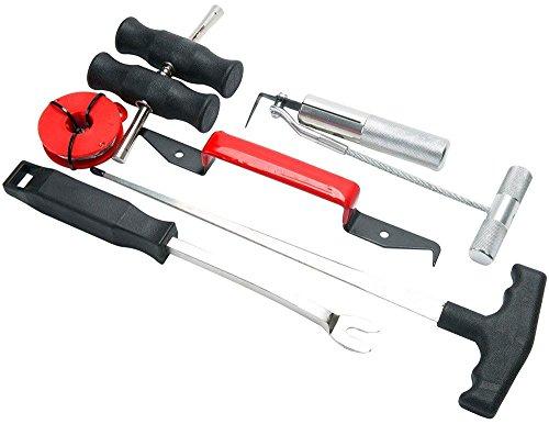 FreeTec 7tlg Einbau Ausbau Reparatur KFZ Windschutzscheibe Set Unerlässliches Werkzeug für Auto