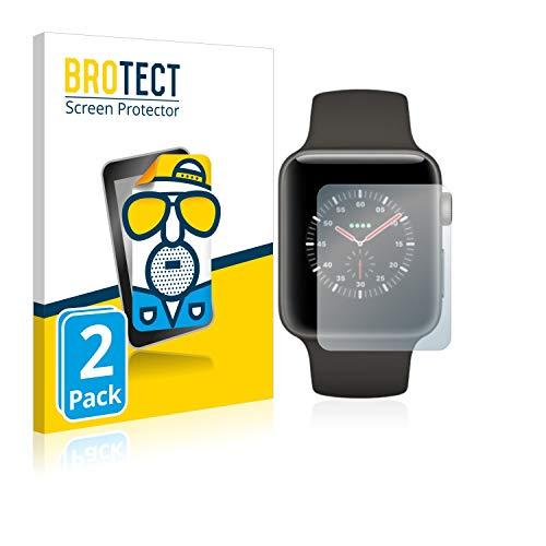 BROTECT 2X Entspiegelungs-Schutzfolie kompatibel mit Apple Watch Edition Series 3 (38 mm) Bildschirmschutz-Folie Matt, Anti-Reflex, Anti-Fingerprint