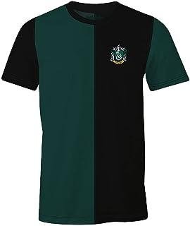 Camiseta para Hombre Harry Potter Slytherin Tournament algodón Verde Negro