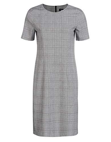 Bexleys Woman by Adler Mode Damen Kleid mit Glencheck-Muster schwarz/weiß/weinrot 42