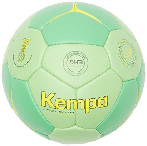 Kempa Unisex Erwachsene Ball Spectrum Competition Profile, Fluo Grün/Grün/Fluo Gelb, 3