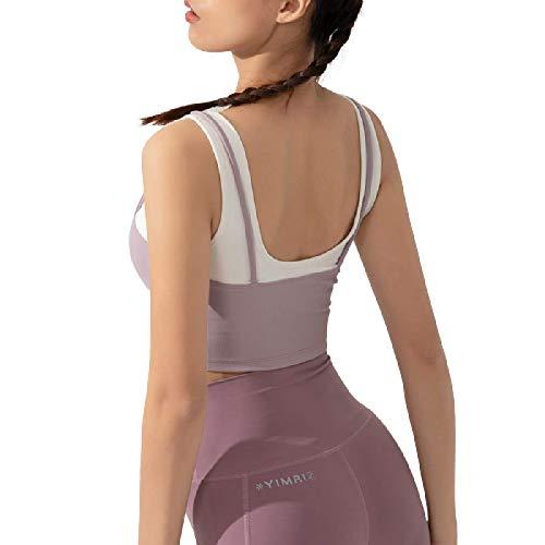 Cwang Sujetador de algodón cómodo sin Espuma, sin Aros, de Encaje, Talla Grande para Mujer,púrpura,L