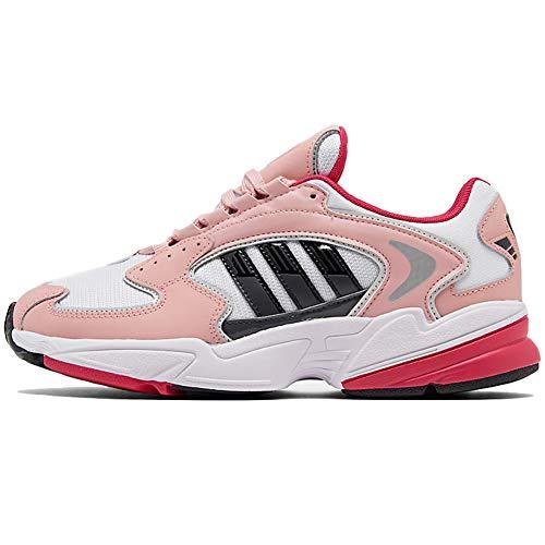 adidas WomensOriginals Falcon 2000 Casual Shoes Womens Fu9588 Size 8.5 White/Black/Pink