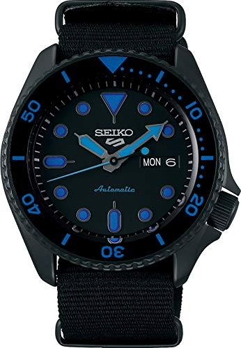 Seiko 5 Street Herren-Uhr mit Titankarbidauflage und Textilband SRPD81K1