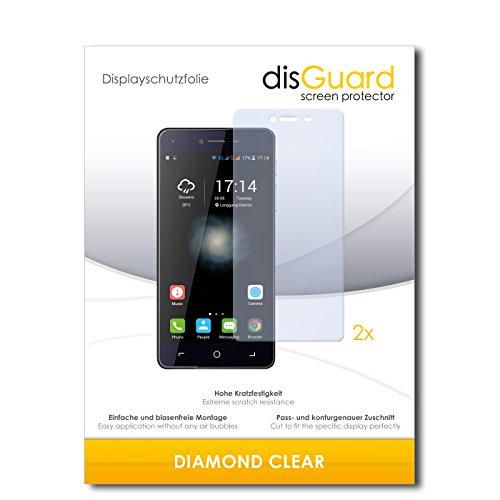 disGuard 2 x Displayschutzfolie Switel eSmart H1 Schutzfolie Folie DiamondClear unsichtbar