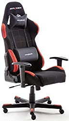Robas Lund OH / FD01 / NR DX Racer 1 gaming / office / desk chair, with rocker function Gaming chair Height-adjustable swivel chair PC chair Ergonomic executive chair, black-red