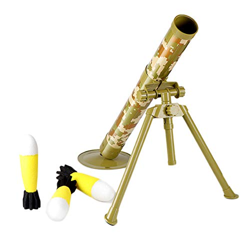 NICEWL Kinder Mörserwerfer Spielzeug,Tactical Shooting Cannon Cannonball Für Kinder,60Mm Giant Caliber Transmitter,Launch Foam Soft Sponge Bullet