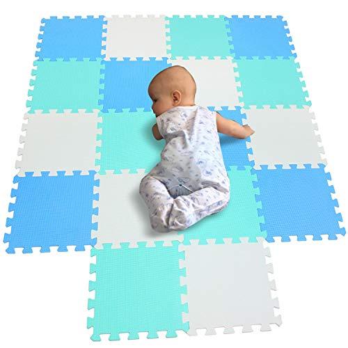 30x30cm Blue interlocking Jigsaw Puzzle EVA Foam Mat Tiles Kids Safe Playmat Set