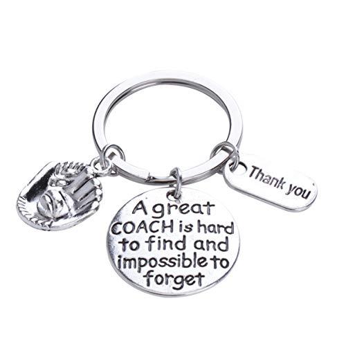 Happyyami Metall Schlüsselanhänger Danke Buchstaben Schlüsselanhänger Baseball Anhänger Schlüsselanhänger Handtasche Geldbörse Telefon Hängende Dekoration für Student Freund Abschlussgeschenk