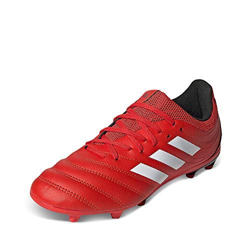 adidas Copa 20.3 FG J, Zapatillas de fútbol, Rojo Activo Blanco FTWR Negro Núcleo, 35 EU